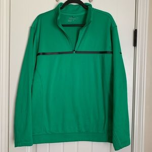 Nike golf therm fit green pullover size large